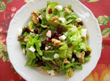 Cranberry, Feta and Walnut Salad Recipe