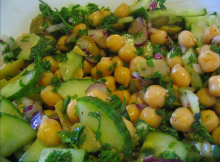 Cucumber and Garbanzo Bean Salad Recipe