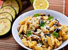 Pasta Salad with Tuna, Eggplant and Mint Recipe