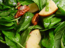 Spinach, Apple and Pecan Salad Recipe