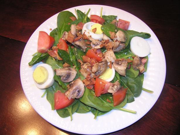 Spinach Salad with Honey Bacon Dressing Recipe
