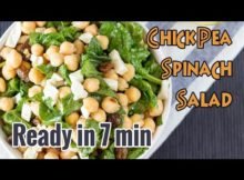 VIDEO Amazing Chickpea Spinach Salad - Hurry The Food Up