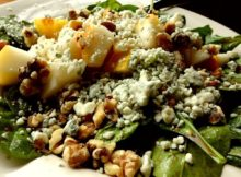 VIDEO Best Spinach Salad Recipe - Pear, Blue Cheese, Walnuts, with Raspberry Vinegrette
