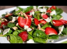VIDEO Clean Eating Spinach Strawberry Salad