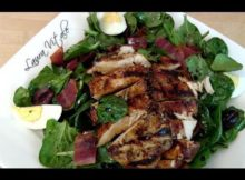 VIDEO How to Make Spinach & Grilled Chicken Salad - by Laura Vitale - Laura in the Kitchen Ep 108