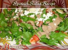 VIDEO Spinach Salad (with Homemade Dressing) Recipe by Manjula
