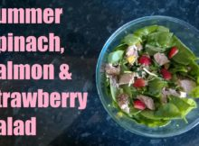 VIDEO Summer Spinach, Salmon & Strawberry Salad - Full Fat Fridays